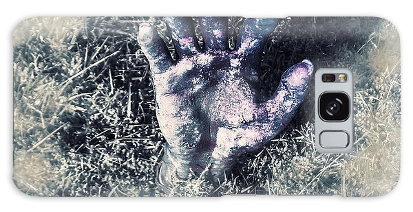 Anguish Galaxy Case - Decaying Zombie Hand Emerging From Ground by Jorgo Photography - Wall Art Gallery