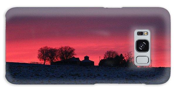 December Farm Sunset Galaxy Case by Kathy M Krause