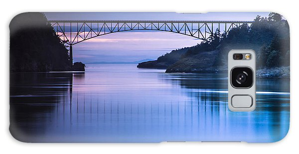 Deception Pass Blues Galaxy Case