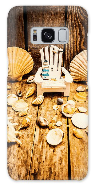 Decorative Galaxy Case - Deckchairs And Seashells by Jorgo Photography - Wall Art Gallery