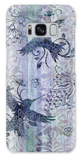 Hummingbird Galaxy S8 Case - Deco Hummingbird Blue by JQ Licensing