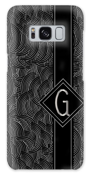 Deco Jazz Swing Monogram ...letter G Galaxy Case
