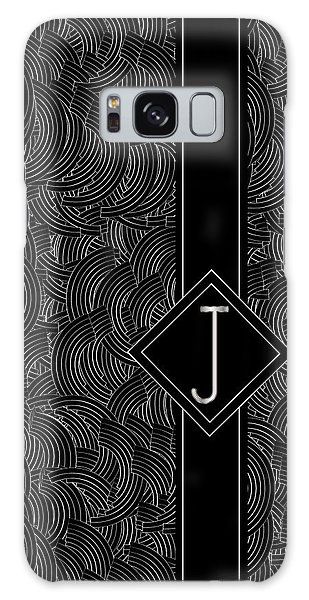 Deco Jazz Swing Monogram ...letter J Galaxy Case