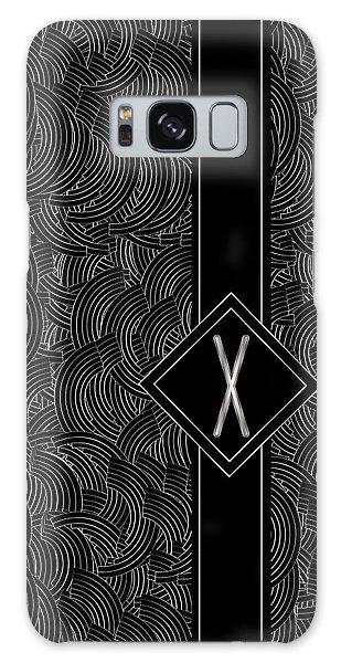 Deco Jazz Swing Monogram ...letter X Galaxy Case