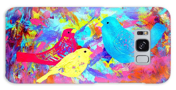 Galaxy Case featuring the painting Decorative Birds D132016 by Mas Art Studio