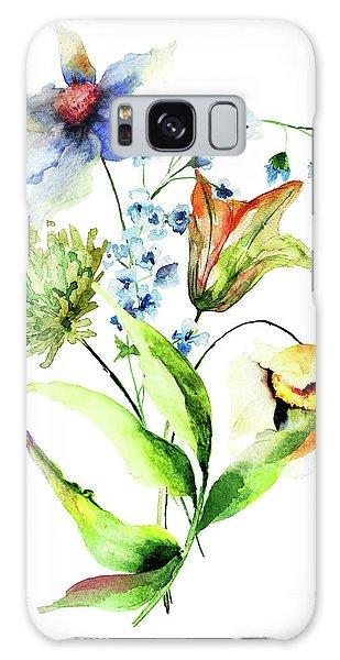 Decorative Flowers Galaxy Case
