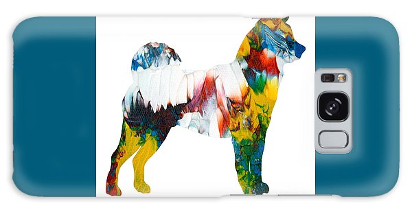 Galaxy Case featuring the painting Decorative Husky Abstract O1015m by Mas Art Studio