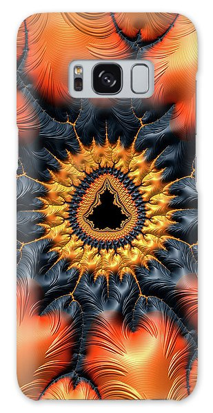 Galaxy Case featuring the digital art Decorative Mandelbrot Set Warm Tones by Matthias Hauser