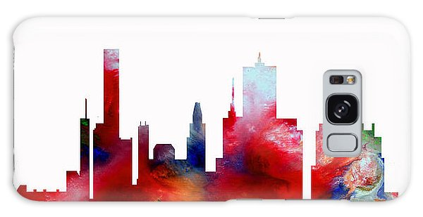 Galaxy Case featuring the painting Decorative Skyline Abstract  Houston T1115d by Mas Art Studio