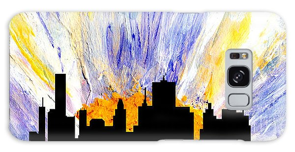 Galaxy Case featuring the painting Decorative Skyline Abstract  Houston T1115v1 by Mas Art Studio