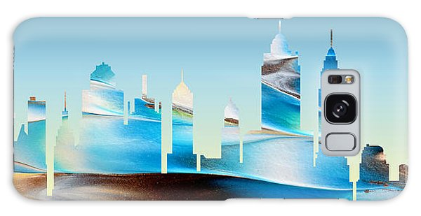 Decorative Skyline Abstract New York P1015b Galaxy Case