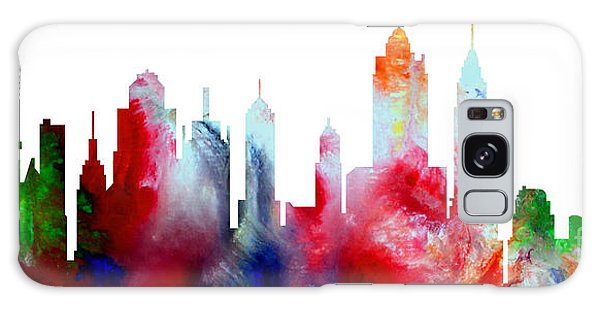 Decorative Skyline Abstract New York P1015c Galaxy Case