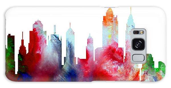 Decorative Skyline Abstract New York P1015c Galaxy Case