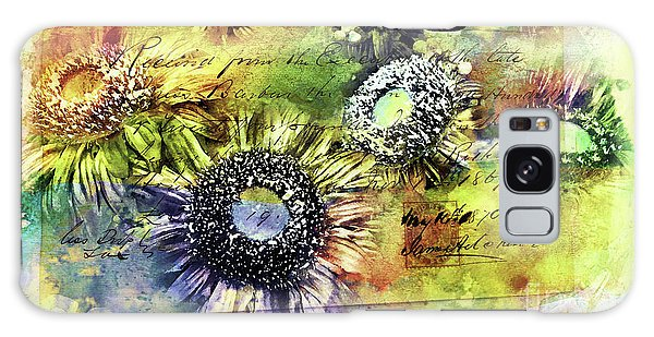 Galaxy Case featuring the painting Decorative Sunflowers Mixed Media A772016  by Mas Art Studio