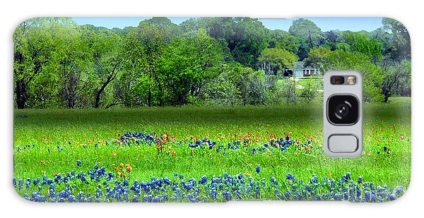 Decorative Texas Homestead Bluebonnets Meadow Mixed Media Photo H32517 Galaxy Case