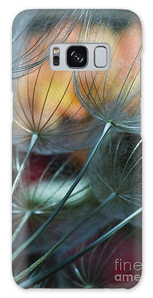 Deep Blue Dandelions Galaxy Case