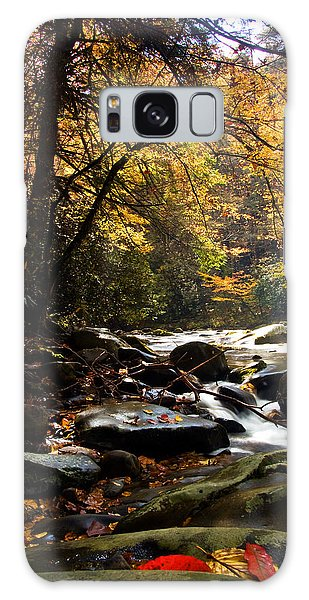 Deep Creek Mountain Stream Galaxy Case