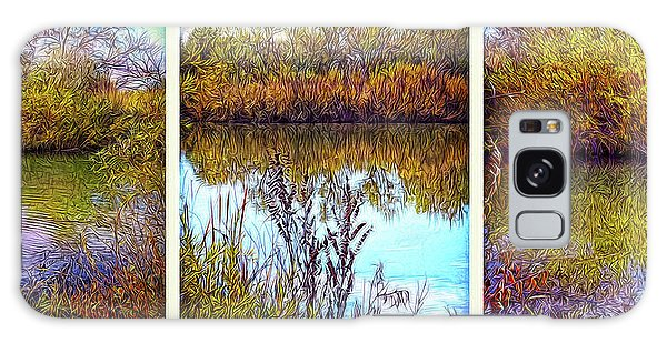 Deep Lake Reflections - Triptych Galaxy Case