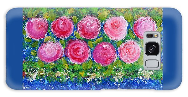 Deep Pink Flowers Galaxy Case