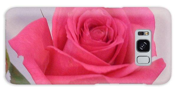 Single Deep Pink Rose Galaxy Case