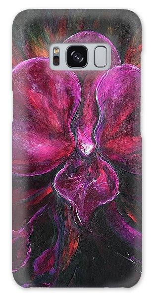 Deep Purple Orchid Galaxy Case