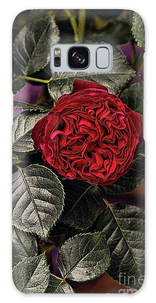 Deep Red Rose Galaxy Case