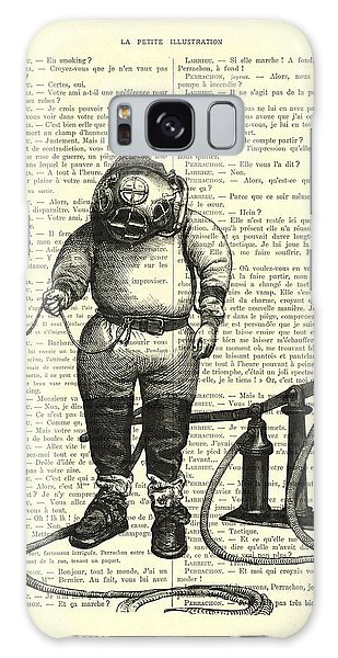 Scuba Diving Galaxy Case - Deep Sea Diver by Madame Memento