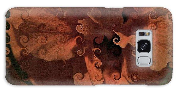 Deep Wine Curlicue Hibiscus Galaxy Case