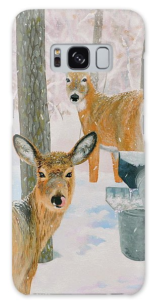 Deer And Sap Buckets Galaxy Case