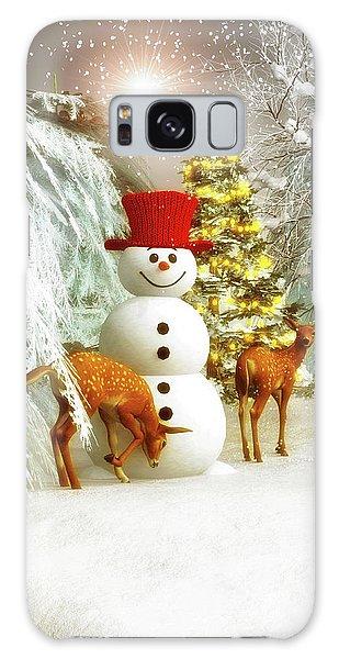Deer And Snowman Galaxy Case