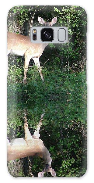 Deer At Dusk Galaxy Case
