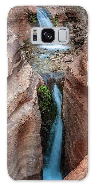 Deer Creek Double Waterfall Galaxy Case by Britt Runyon
