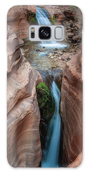 Deer Creek Double Waterfall Galaxy Case