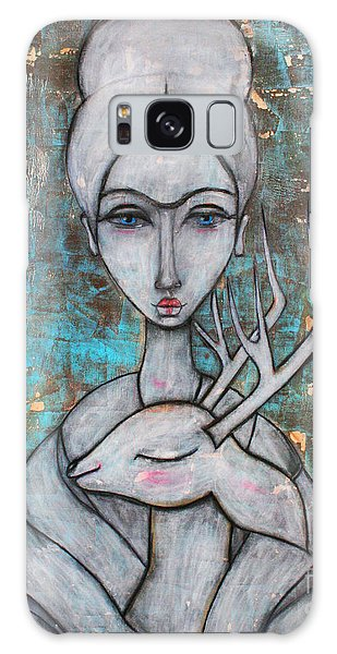 Deer Frida Galaxy Case by Natalie Briney