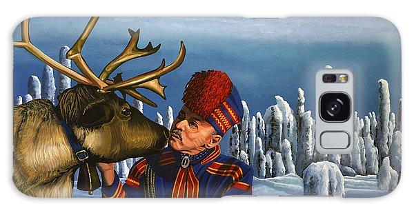 Scenery Galaxy Case - Deer Friends Of Finland by Paul Meijering