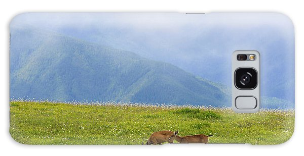 Deer In Browse Galaxy Case