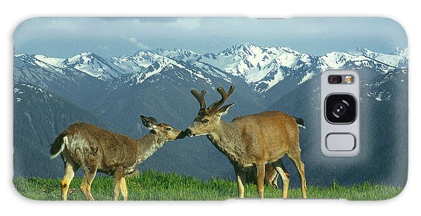 Ma-181-deer In Love  Galaxy Case