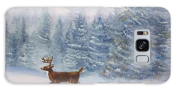 Deer In The Snow Galaxy Case