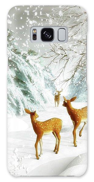 Deer In The Snow Galaxy Case