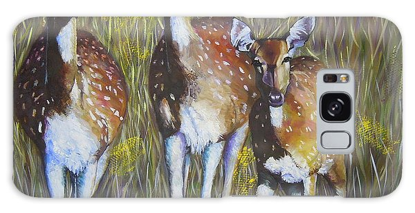 Deer On Guard Galaxy Case
