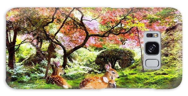 Deer Relaxing In A Meadow Galaxy Case
