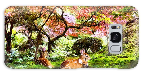 Deer Relaxing In A Meadow Galaxy Case