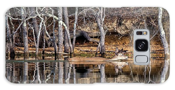 Galaxy Case featuring the photograph Deer Swim by Alan Raasch