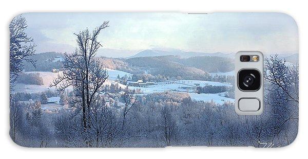 Deer Valley Winter View Galaxy Case by Meta Gatschenberger