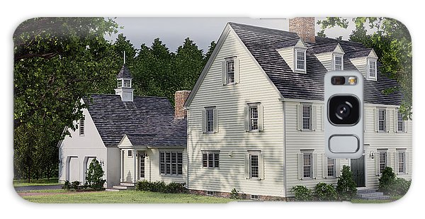 Deerfield Colonial House Galaxy Case