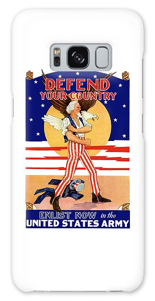 Eagle Galaxy S8 Case - Defend Your Country Enlist Now  by War Is Hell Store