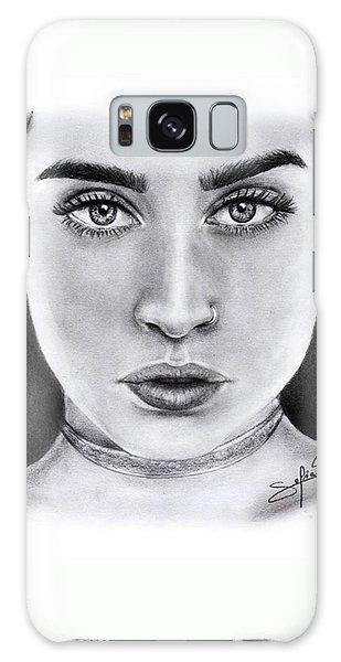 Lauren Jauregui Drawing By Sofia Furniel  Galaxy Case