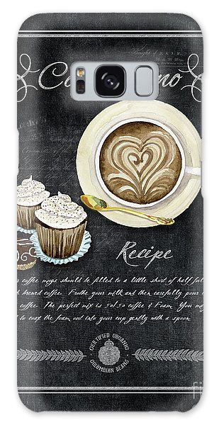 Deja Brew Chalkboard Coffee 3 Cappuccino Cupcakes Chocolate Recipe  Galaxy Case by Audrey Jeanne Roberts