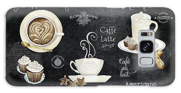 Deja Brew Chalkboard Coffee Cappuccino Mocha Caffe Latte Galaxy Case by Audrey Jeanne Roberts