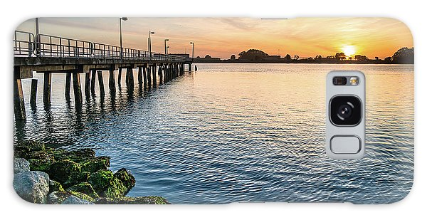 Del Norte Pier And Spring Sunset Galaxy Case by Greg Nyquist